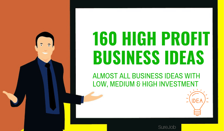 160 Business Ideas (All with Low, Medium & High Investment