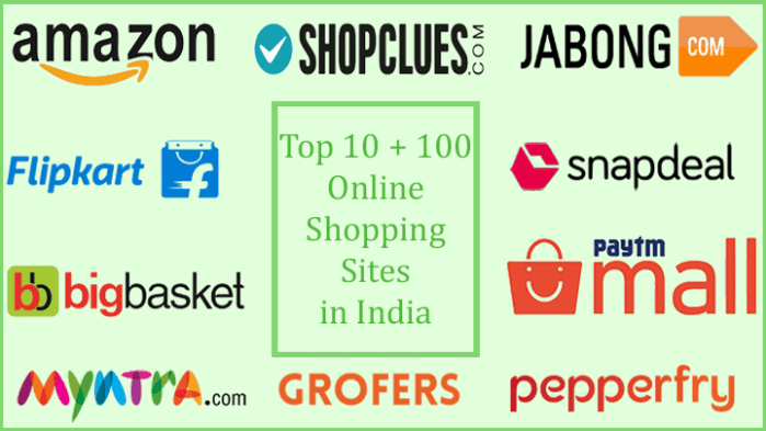 List of top 10 online shopping sites in india for for Online shopping websites list
