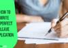 write leave application