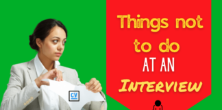 Things not to do at an Interview